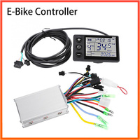 ELectric Bike Scooter Controller 24V/36V/48V 250W/350W with LCD Display Speed for BLDC Motor Scooter E-Bike Accessories