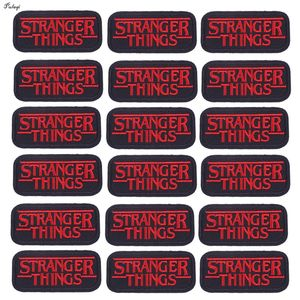 10PCS Stranger Things Patches Embroidered Patches For Clothing Iron On Clothes Stickers Red Letter Clothing DIY Badges Wholesale