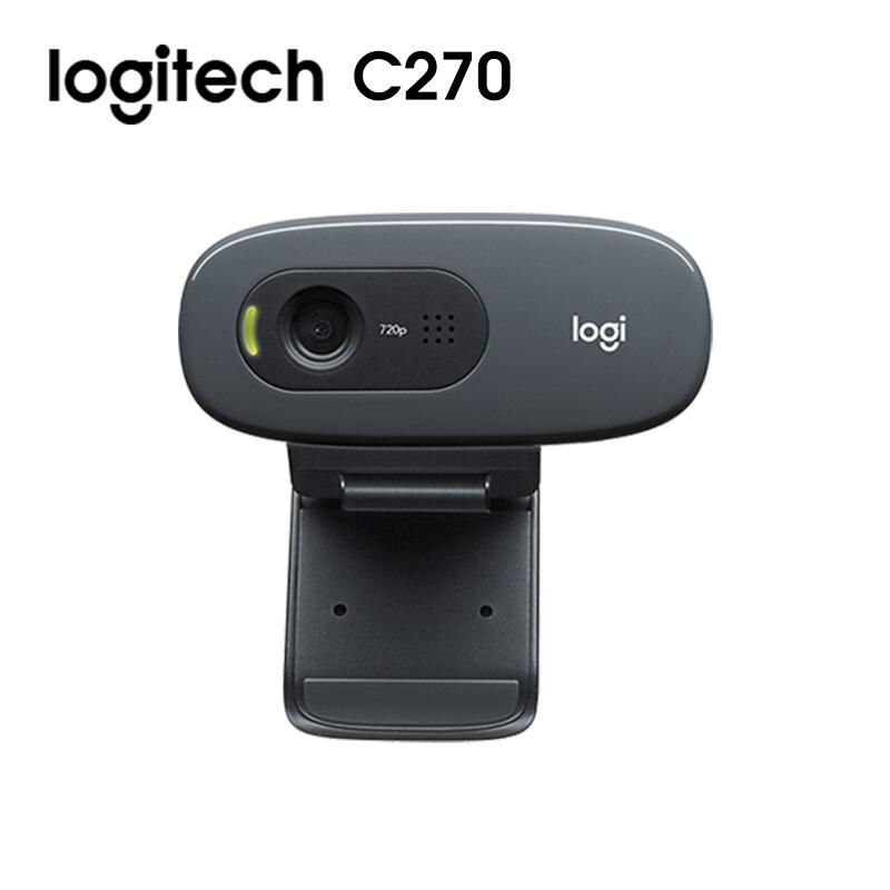 Original Logitech C270i C270 HD Webcam 720p HD Built-in Microphone Web Camera USB2.0 Free drive Webcam for PC Web Chat Camera 1