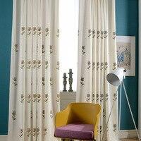 [Hua tian xi shi] Hersteller Direct Selling Vorhang Moderne Garten Vorhang Künstliche Baumwolle Stickerei Schatten Vorhang Stoff-in Fenstervolant aus Heim und Garten bei