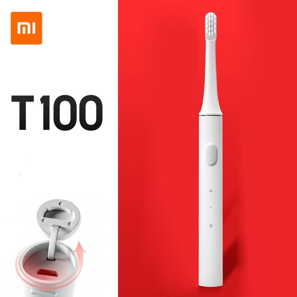 Оригинальная умная электрическая зубная щетка Xiaomi Mijia T100 Sonic зубная щетка с 2 скоростями для отбеливания полости рта напоминание о зоне 30 дне...