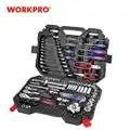 Workpro 123 Pc Auto Reparatie Tool Set Voor Auto Tool Set Monteur Tool Kits Ratel Steeksleutel Socket Set 2019 nieuwe Ontwerp