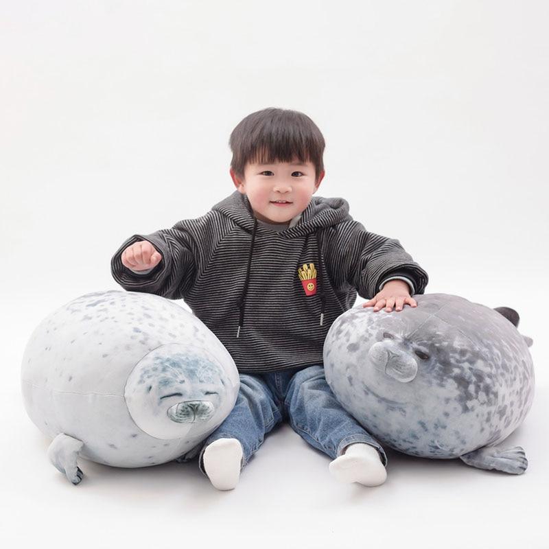 30cm 40cm 60cm cute seal plush toy lifelike stuffed marine life seal soft doll simulation seal pillow kids toys birthday gift
