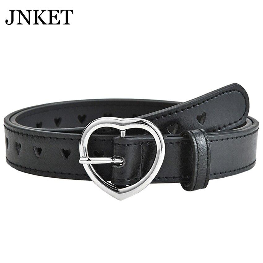 JNKET New Fashion Children Belt Peach Heart Belt PU Leather Belt Pin Buckle Waist Belt Leisure Cinturon Jeans Waistband