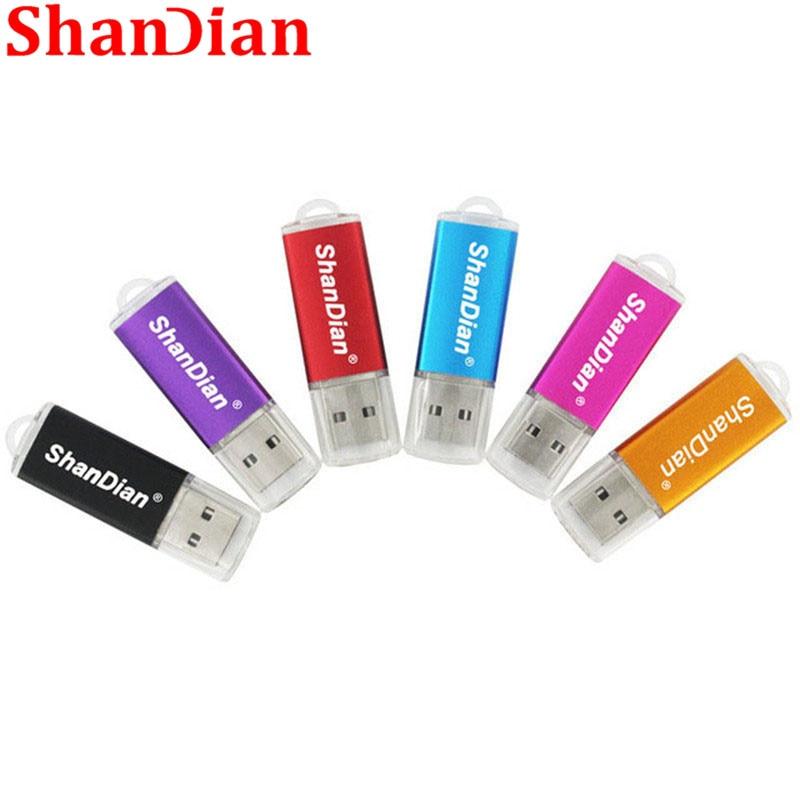 SHANDIAN New Creative Usb Flash Drive Pen Drive 64GB 32GB 16GB 8GB 4GB External Storage Wedding Photography Fashion Gift