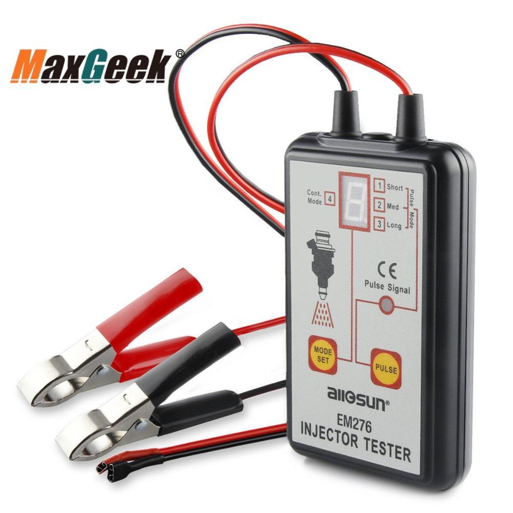 Maxgeek EM276 топливный инжектор тестер 4 импульсных режима мощный топливная система Сканер Инструмент Анализатор