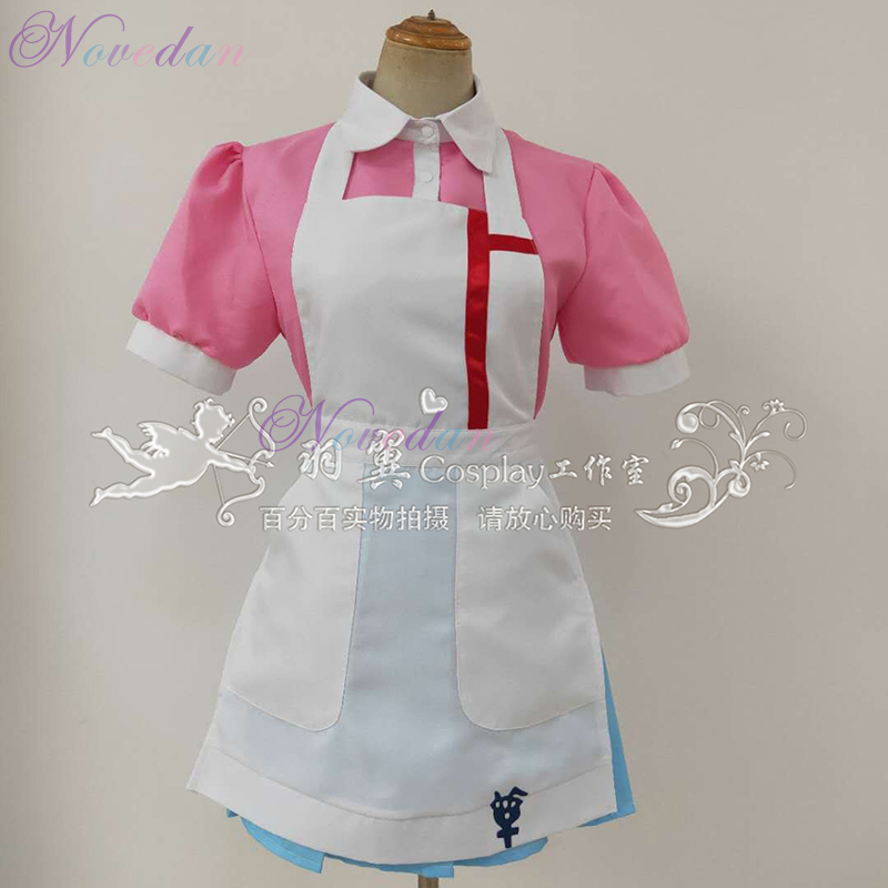 Halloween Female Dangan Ronpa 2 Mikan Tsumiki Danganronpa Dress Cosplay Costume Ladies Role Playing Uniform