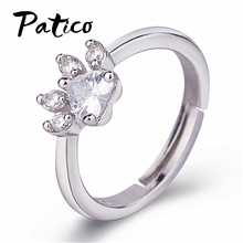 Europe Style 925 Sterling Silver For Women Cute Exquisite Rose Gold Cat Claw Cubic Zirconia Romantic Jewelry Birthday Gift