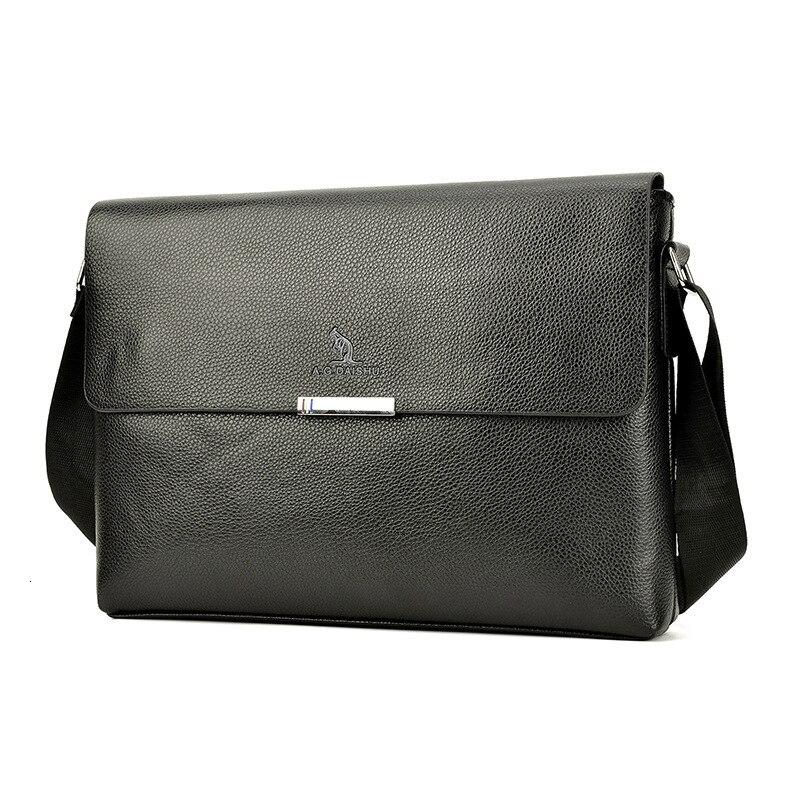 Briefcase Men's PU Leather Laptop Male Business Travel Bag Messenger Bag Casual Shoulder Crossbody Bag
