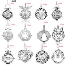 12 stks/partij Mix Vintage Stijl Koperen Metalen Hanger voor 20mm Buik Gong Bola Bola Harmony Ball Medaillon Kooi Sieraden groothandel