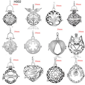 Image 1 - 12PCS/lot Mix Vintage Style Copper Metal Pendant for 20mm Belly Chime Bola Harmony Bola Ball Locket Cage Jewelry Wholesale