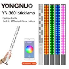 YONGNUO YN360II YN360 השני קרח/פיקסל LED מקל Bicolor 3200k 5500k App בקרת Bluetooth וידאו אור RGB צבעוני תמונה LED מקל
