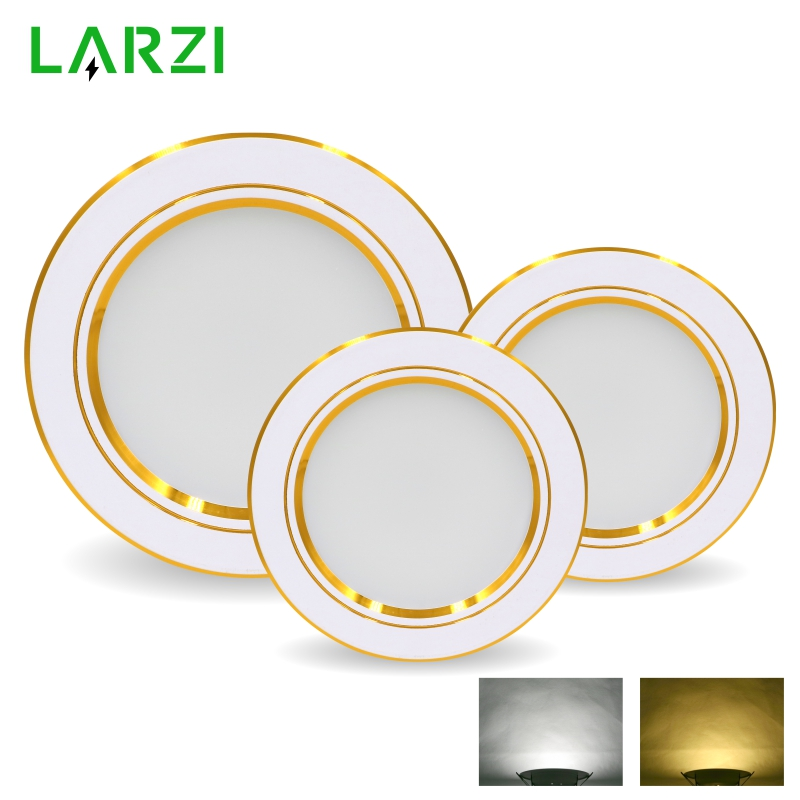 LED Downlight 5W 9W 12W 15W 18W Round Gold Recessed Lamp 220V 230V 240V Led Bulb Bedroom Kitchen Indoor LED Spot Lighting