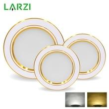 LED Downlight 5W 9W 12W 15W 18W Round Gold Recessed Lamp 220V 230V 240V Led Bulb Bedroom Kitchen Indoor LED Spot Lighting
