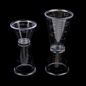 Miarka koktajlowa do domu Bar Party przydatne akcesoria barowe mały Drink miarka Shaker do koktajli Jigger tanie i dobre opinie CN (pochodzenie) Z tworzywa sztucznego Ekologiczne Na stanie HW5710-01 Miarki barmańskie 5 cm