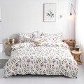Белые комплекты постельного белья с цветами  комплекты пододеяльников для девочек  пасторальная кровать  плоская простыня  двуспальный под...