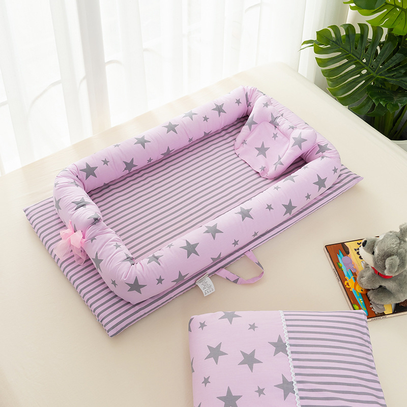 Newborn Sleeping Basket  Portable Crib Baby Bed Baby Protection Pad Bumpers Soft Nest CribPrinting  More 13 Style YCQ001