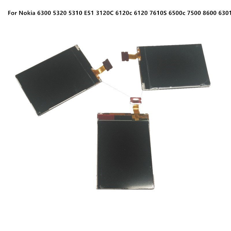 Azqqlbw 10pcs/lot LCD For <font><b>Nokia</b></font> 6300 5320 <font><b>5310</b></font> E51 3120C 6120c 6120 7610S 6500c 7500 LCD <font><b>Screen</b></font> Replacement Repair Parts 6300 L image