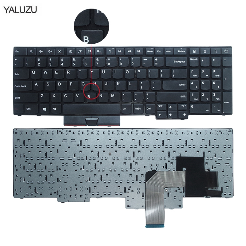 US New Keyboard FOR Lenovo FOR ThinkPad FOR Edge E530 E530C E535 E545 04Y0301 0C01700 V132020AS3 Laptop Keyboard No Rocker