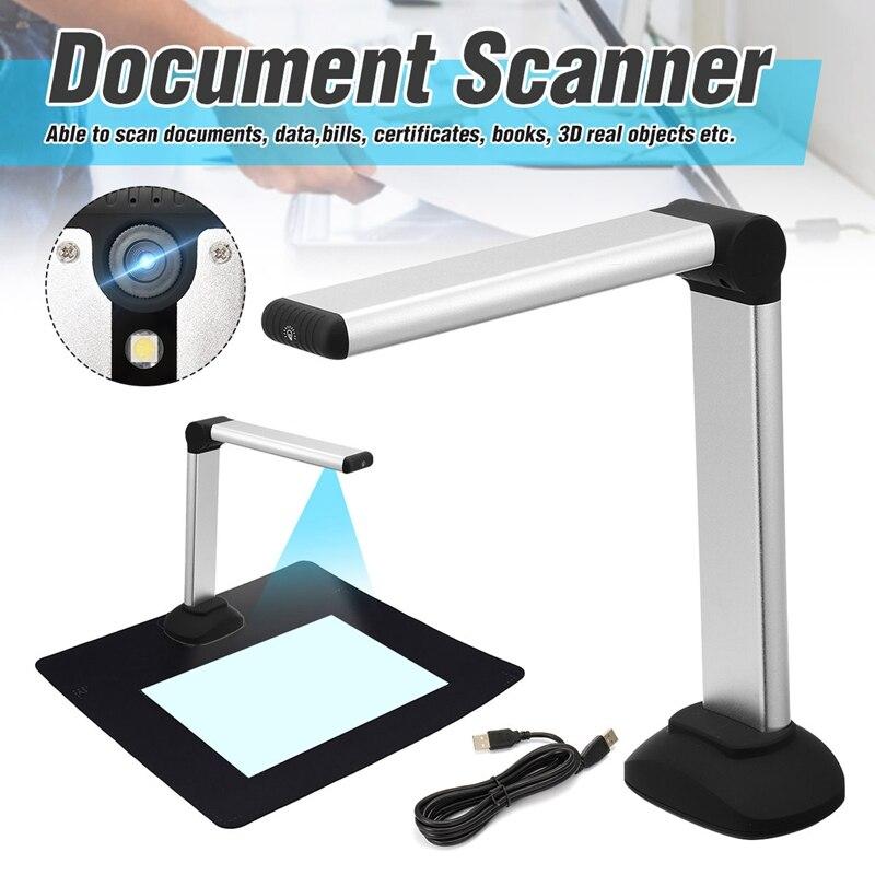 Scanner portatif à grande vitesse de caméra de Document de l'image A4 de livre d'usb avec la banque de bibliothèque de bureau d'école de la caméra 8.0MP HD haute définition