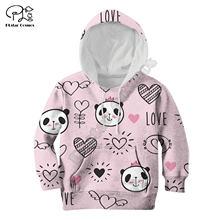 Детское пальто на молнии с принтом «панда в любви» пуловер длинными