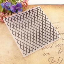 Rhombus Frame Plastic Crafts DIY Photo Album Embossing Folder Template Card Geometric Stencils Scrapbooking Paper Molds