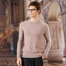 UCAK Brand Pure Merino Wool Sweaters Men 2020 O-Neck Striped Casual Fashion Streetwear Homme New Arrival Spring Pullover U3157