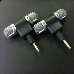 3.5mm Jack Mini rejestrator Stereo głos mikrofon do laptopa PC z systemem Android rozmów telefon|Wzmacniacze sygnału|   -