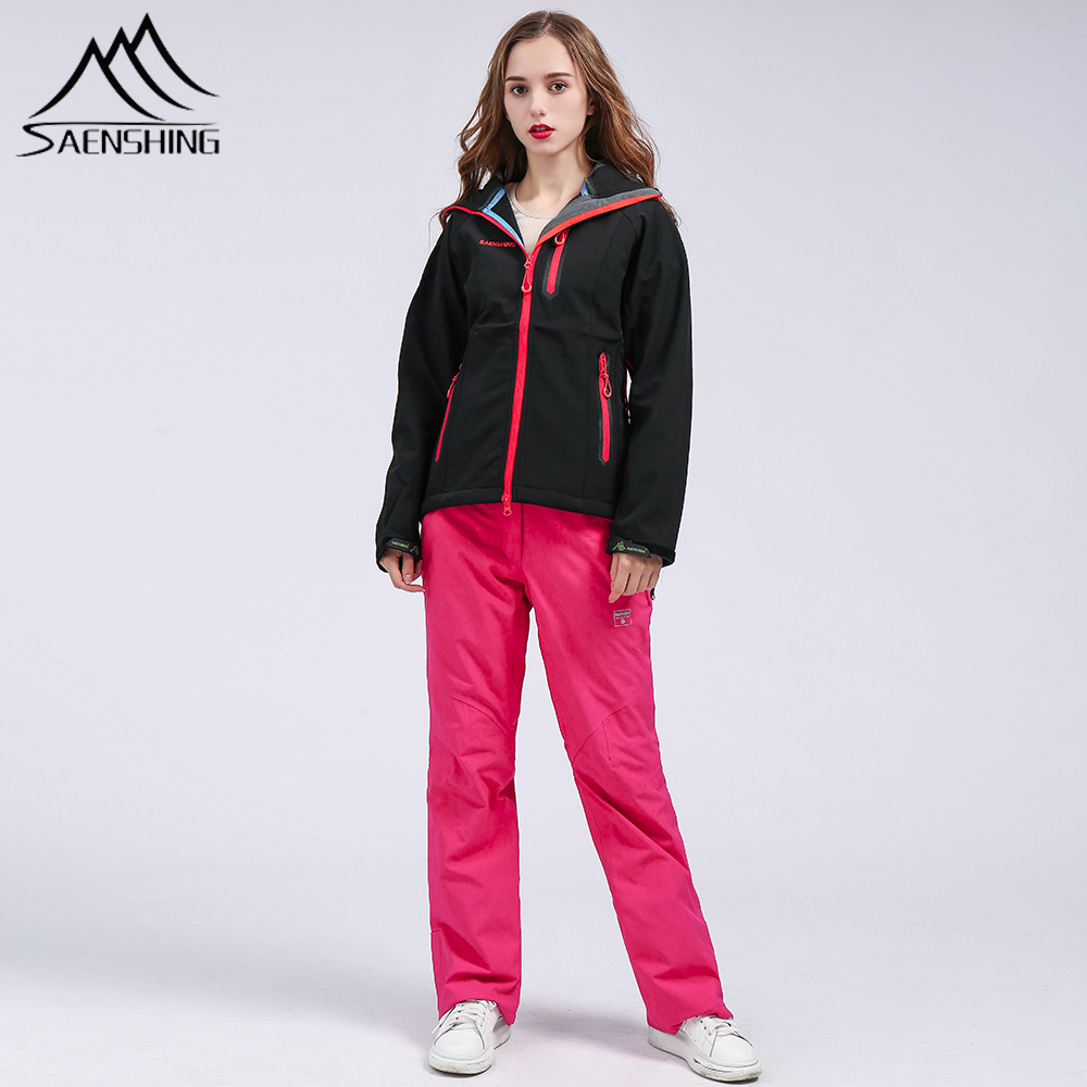 SAENSHING Ski Pants Women Jacket Softwell Coat Snowboard Mountain Skiing Trousers High Quality Thicken Warm Winter Outdoor