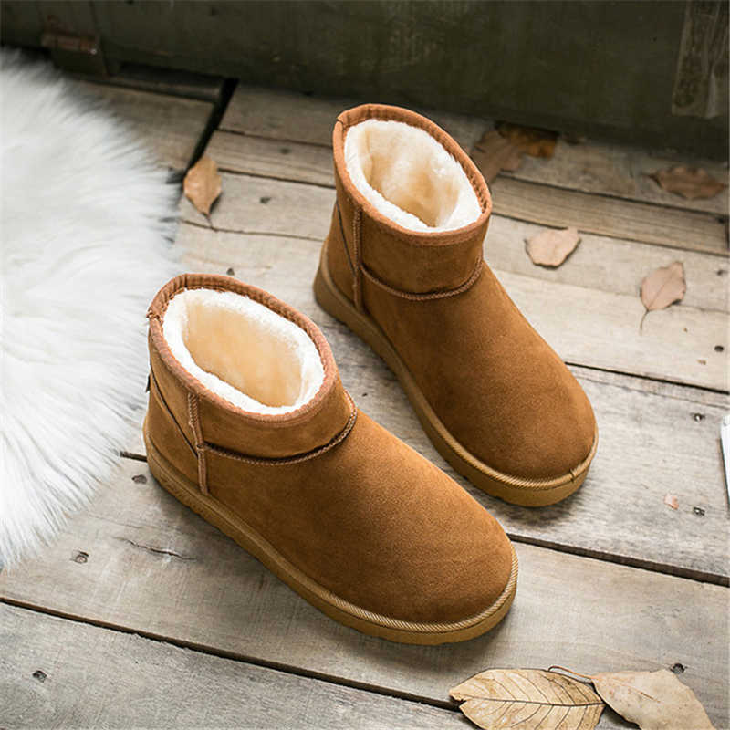 Women Boots Ankle Boots for Womens Platform Female Girl Fur Boots Furry Snow Boots Winter Shoes