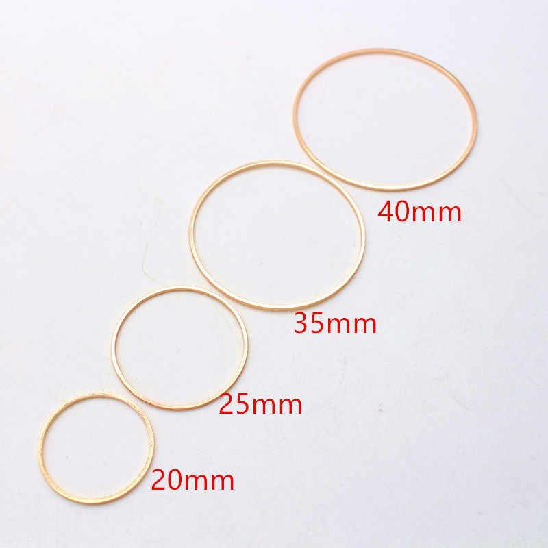 20 قطعة/الوحدة KC الذهب خواتم Making بها بنفسك أقراط صنع دائرة مستديرة القرط قلادة مجوهرات اكسسوارات النتائج 20 مللي متر 25 مللي متر 35 مللي متر 40 مللي متر