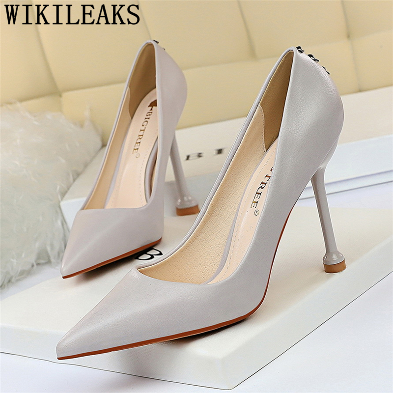 pointed heels black heels wedding shoes ladies heels pumps women shoes bridal shoes fashion zapatos de mujer tacón chaussure image