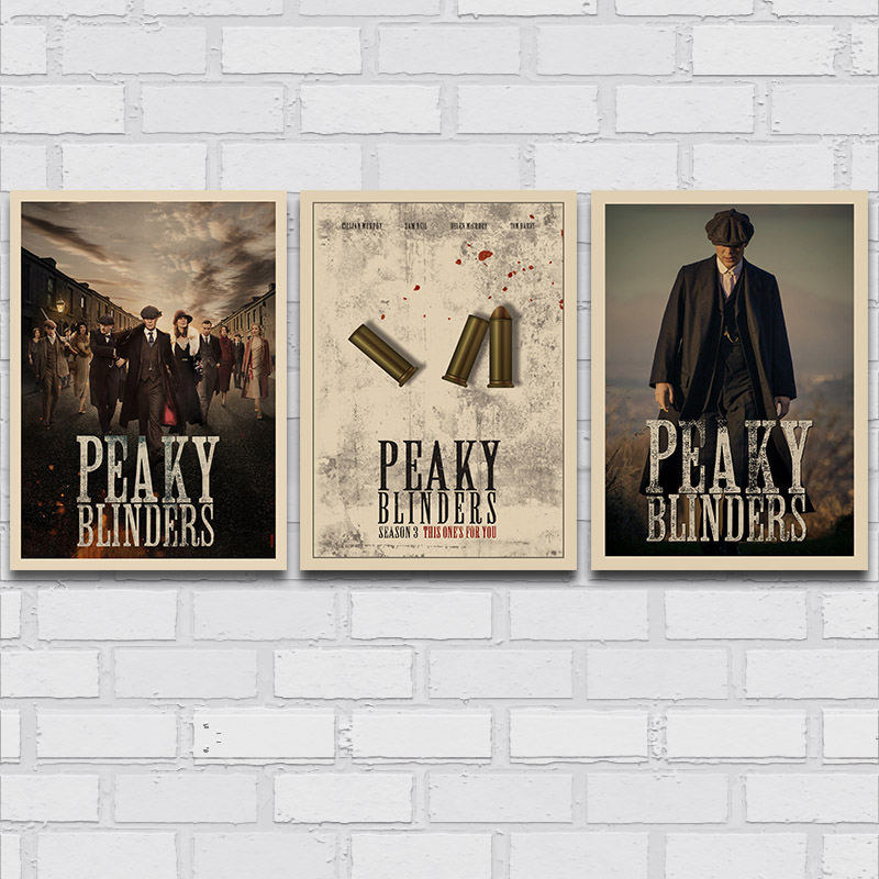 peaky blinders 5 tv series poster vintage wall art canvas print wallpaper 20x26 40x55cm artwork picture for living room decor painting calligraphy aliexpress