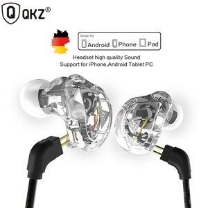 QKZ 4DD наушники с ушками, проводные наушники, HIFI Стерео гарнитуры, спортивные наушники для бега, наушники с микрофоном для MP3-плеера
