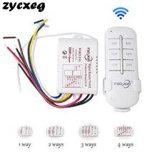 Interruptor de luz de Control remoto inalámbrico, interruptor de encendido y apagado RF433 de 1/2/3/4 vías, 220V, Control remoto Digital para bombilla