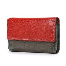Luxury Deisgner Genuine Leather Women's Wallet Female Coin Purse Short Wallets Lady Magnetic Buckle