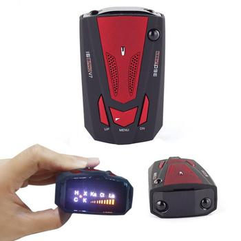 Car Radar Detector English Russian Auto 360 Degree Vehicle V7 Speed Voice Alert Alarm Warning 16 Band LED Display car radar detector english russian auto 360 degree vehicle v3 speed voice alert 87he