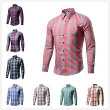 Hot sale men's Long Sleeve Slim dress shirts men p