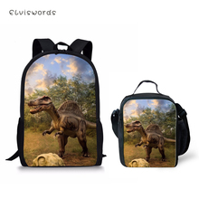 ELVISWORDS Childrens Backpack Cartoon Dinosaur Prints Pattern Toddler School Book Bag Fashion Womens Travel