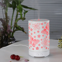Butterfly Vintage Mist Iron Art Humidifier Colorful Essential Oil Cool Mist Aromatherapy Diffusers for Home Decor Bedroom 100mL|Humidifiers| |  -