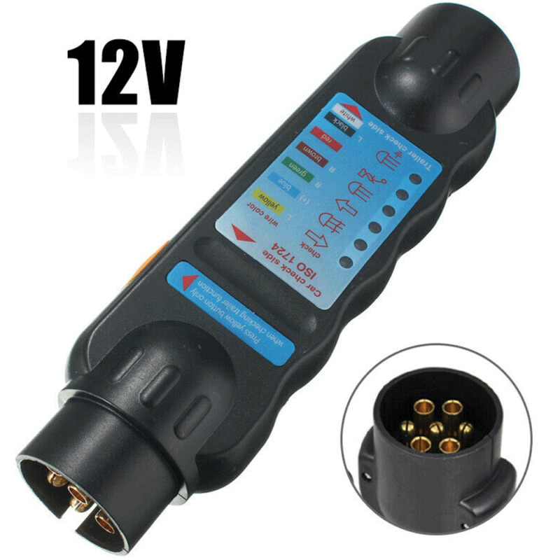 12v 7 Pin Car /& Trailer Towing Lights Plug /& Socket Cable Wiring Circuit Tester