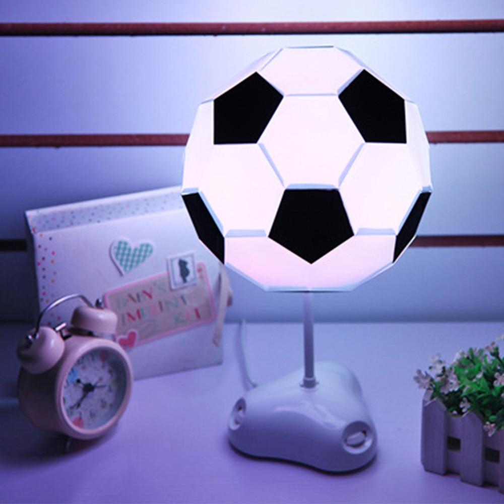 DIY Creative Colorful Football Night Light Desk Lamps USB Table Lamp LED Night Lights For Home Bedroom Decor