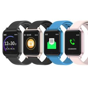Image 5 - B58 الساعات الذكية مقاوم للماء الرياضة B57 زائد آيفون أبل الهاتف Smartwatch رصد معدل ضربات القلب ضغط الدم للنساء الرجال