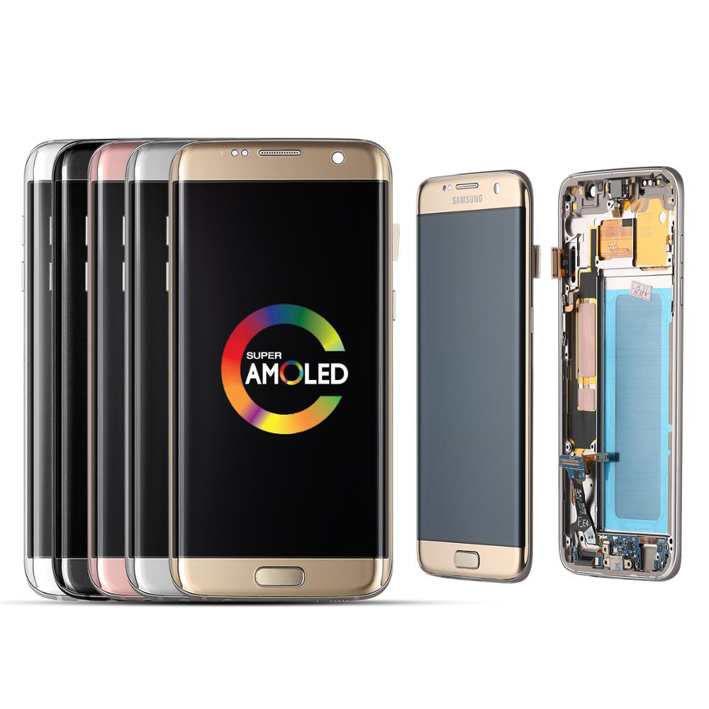 100% Tested Working Super AMOLED LCDs For SAMSUNG Galaxy S7 edge SM-G935 G935F LCDs Display with Touch Screen Digitizer Assembly image