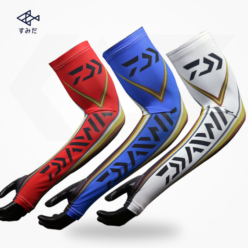 DAIWA Ice Fishing Arm Sleeve Summer Outdoor Sports Cycling Driving UV Block Arm Sleeves Cooling Arm Sleeves Cover Wholesale