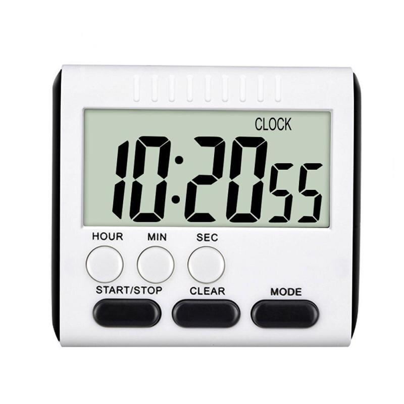 Супер тонкий ЖК-дисплей цифровой Экран Кухня таймер обратного отсчета магнитные часы секундомер сна Кухня таймеры Temporizador часы оптом