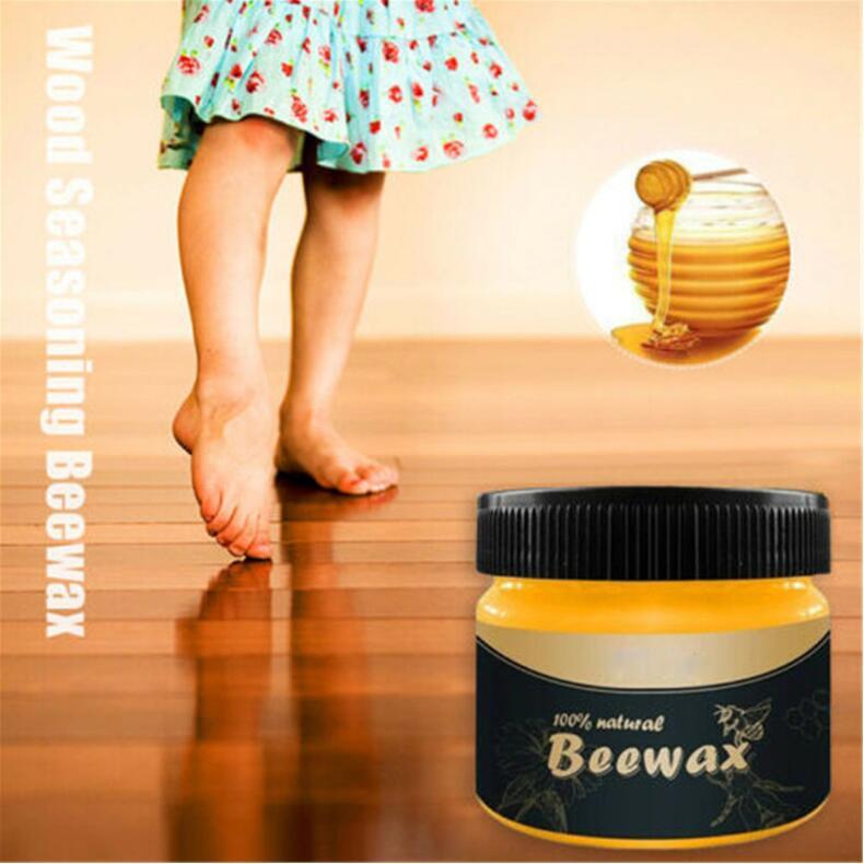 80 г 100% органический натуральный чистый пчелиный воск мед пчелиный воск для мебели уход за деревом восковая полировка очиститель