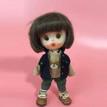 Doll Accessories Black Jacket Clothes Set for BJD OB11 Naked Dolls - Type 3 (No Doll) недорого