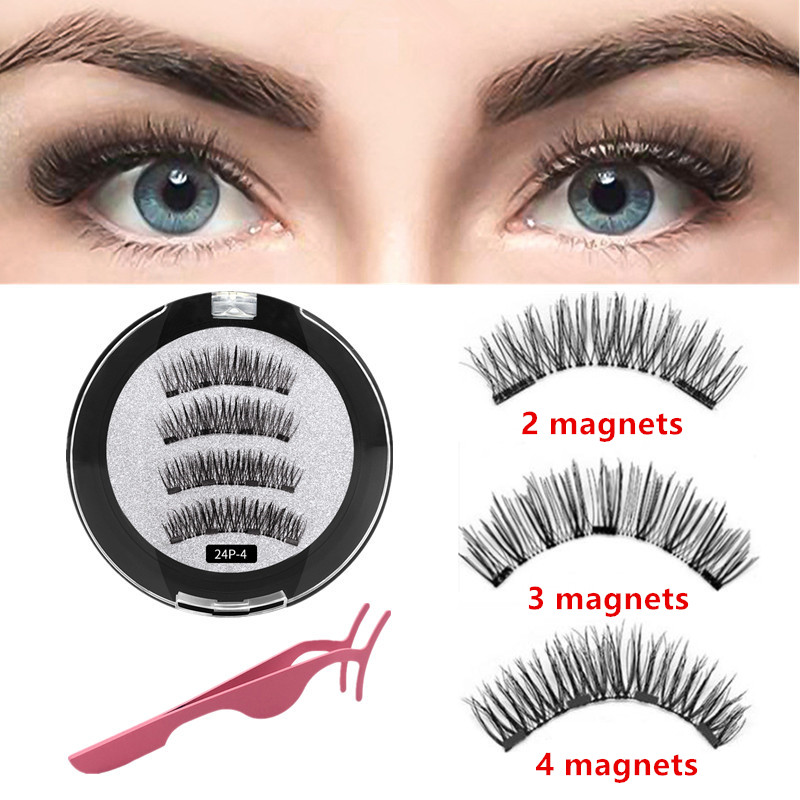 Handmade Magnetic Lashes 3d Lashes Natural False Eyelashe Extended With Gift Box Magnetic Eyelashes