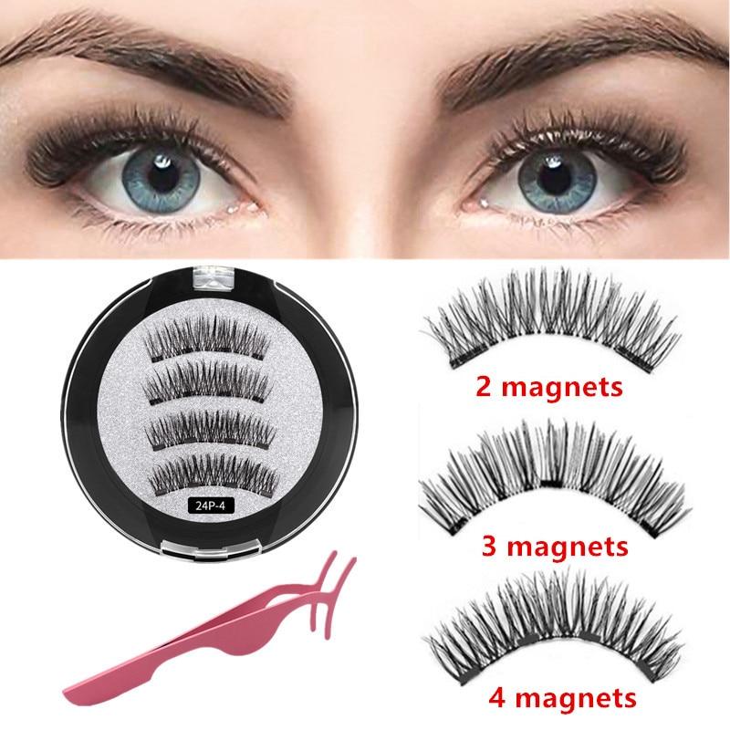 Handmade Magnetic Lashes 3d Lashes Natural False Eyelashe Extended With Gift Box Magnetic Eyelashes